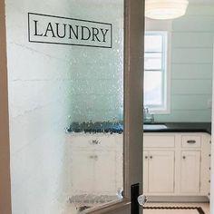 Laundry Room with Seeded Glass Door