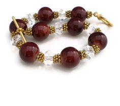 Plum Crystal Bracelet & Earrings