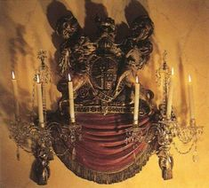Ornate sconces are a must!  ~Splendor