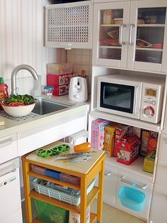 This is a miniature kitchen, but it has the features I want I my personal Tiny House. Crazy huh?