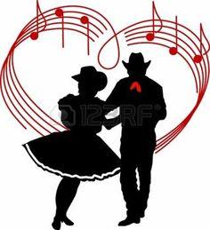 Square Dance Cartoon Clip Art | 106k couple dancing ...