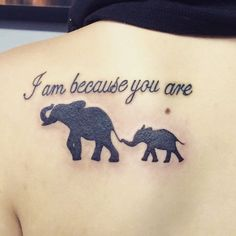 Image result for mom and baby elephant tattoo #TattooIdeasForMoms