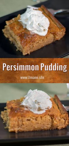 Four Kitchen Decorating Suggestions Which Can Be Cheap And Simple To Carry Out With Its Warm Fall Flavors, A Hint Of Cinnamon, And Creamy Texture This Persimmon Pudding Recipe Is A Delicious Dessert Everyone Should Try. Pudding Desserts, Köstliche Desserts, Pudding Recipes, Delicious Desserts, Dessert Recipes, Pudding Ideas, Pudding Flavors, Persimmon Cookies, Persimmon Recipes