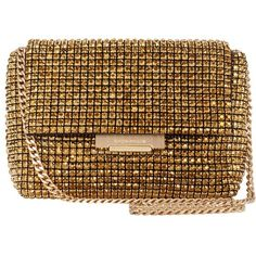 Karen Millen Diamante Foldover Clutch Bag ($245) ❤ liked on Polyvore featuring bags, handbags, clutches, bronze, fold-over clutches, special occasion handbags, bronze handbag, brown purse and handbag purse