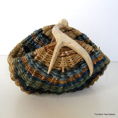 Antler Basket in Blues and Natural