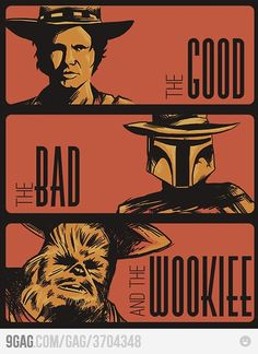8/01/14  11:25a  Star Wars: The Space War Shootout   ''The Good, The Bad and The Wookie 9gag.com
