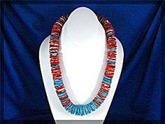 American Indian Spiny Oyster Turquoise Necklace (Image1)
