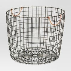 Extra Large Round Wire Decorative Storage Bin With Copper Handles - Threshold , . Extra Large Round Wire Decorative Storage Bin With Copper Handles - Threshold , Antique Silver Decorative Storage Bins, Wire Storage, Bath Storage, Storage Baskets, Decorative Baskets, Storage Ideas, Storage Containers, Produce Storage, Shop Storage