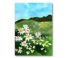 A Field of Daisies  NOSTALGIA CARD  5x7 by TornpaperMemories, $4.50