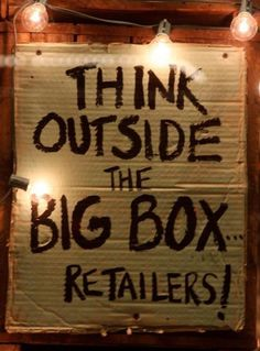Think outside the big box retailers! Small Business Quotes, Small Business Saturday, Buy Local, Shop Local, Best Business To Start, Support Local Business, Shopping, Live, Shops