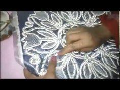 غرز اللاسيه الروماني شكل4 romanian point lace - YouTube
