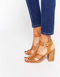 73561efb631 ASOS TELESCOPE Wide Fit Heeled Sandals at asos.com