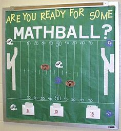 """Are You Ready for Some MATHball?"" - Interactive Math Bulletin Board Idea"