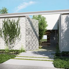 Newest Modern Entrance Gate Designs Decorative Modern Entrance Gate Ideas Modern House Design Ideas 2016 by http://www.rowcdesign.com/modern-entrance-gate-designs-for-front-of-house-landscape-ideas/elegant-white-modern-entrance-gate-ideas-for-luxurious-home-design-with-clematis/
