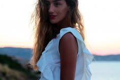 Find the french blogger Kenza in Calvi with our dress Pensee ! www.annefontaine.com #annefontaine #fashion
