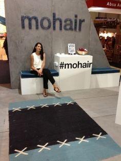 Karoo Looms at Design Indaba with SA Mohair Tactile Texture, Bath Mat, Design, Decor, Decoration, Decorating, Bathrooms, Deco