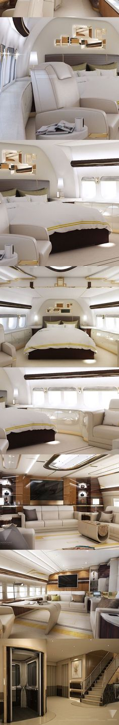 A Billionaire's Lifestyle - Private Jet -Collage by #Luxurydotcom ( from my Top pins Board ) #luxuryjet