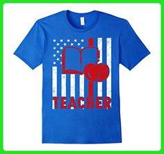 Mens Teacher American Flag Shirt Teacher Flag Small Royal Blue - Careers professions shirts (*Amazon Partner-Link)