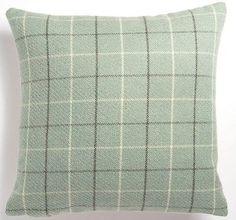 "Large Warm Wool Feel Duck Egg Blue Tartan Check 22"" Cushion Cover Pillow Case in Home, Furniture & DIY,Home Decor,Cushions   eBay"