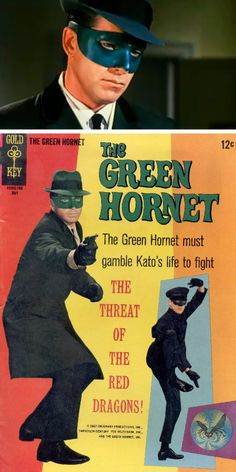 The Green Hornet TV show with Bruce Lee as kato Vintage Tv, Vintage Comics, Comic Book Covers, Comic Books, Comic Art, Caricatures, Mejores Series Tv, Green Hornet, Old Tv Shows