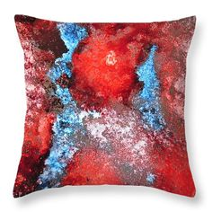 "Burnt 14"" x 14"" Throw Pillow by Tammy Finnegan.  Our throw pillows are made from 100% cotton fabric and add a stylish statement to any room.  Pillows are available in sizes from 14"" x 14"" up to 26"" x 26"".  Each pillow is printed on both sides (same image) and includes a concealed zipper and removable insert (if selected) for easy cleaning."