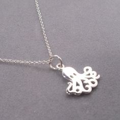 Cute octopus necklace from Sneakpeeq.