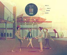 Matthew Lyons - Illustrations in Google Think Quarterly