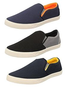 7472faf36 Maddy Men s Perfect Combo Pack of 3 Black Casual Loafer Shoes-for Black  Shoes Lovers