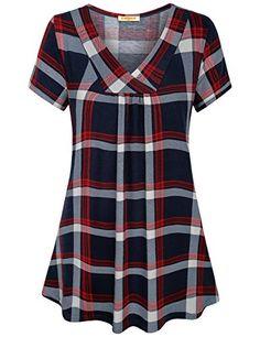 Stylish Dress Designs, Stylish Dresses, Stylish Tops, Casual Tops, Kids Blouse Designs, Plaid Shirt Women, Kurta Neck Design, Blouse Styles, Blouses For Women