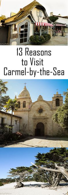 13 Reasons to Visit Carmel-By-The-Sea This post may contain affiliate links. Please read our disclosure policy for more information. Carmel-by-the-Sea is one of those unique U. destinations that will draw you in and make you fall in love with it… California Honeymoon, Carmel California, California Travel, Pebble Beach California, California Missions, California Destinations, New Travel, Travel Usa, Family Travel
