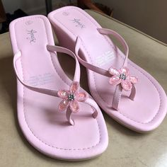 Pretty Shoes, Cute Shoes, Sock Shoes, Pastel Pink, Wedge Sandals, High Heels, Footwear, Wedges, Fit S