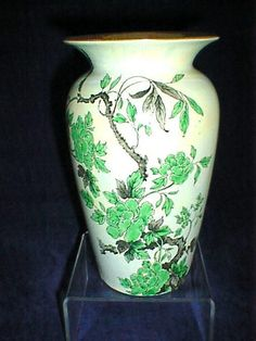 STUNNING SHELLEY LUSTRE VASE IN THE INDIAN TREE DESIGN. in Pottery, Porcelain & Glass, Porcelain/ China, Shelley | eBay