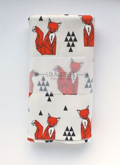 Hey, I found this really awesome Etsy listing at https://www.etsy.com/listing/183970359/organic-baby-blanket-in-geometric-fox
