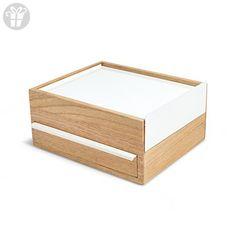 Umbra Stowit Jewelry Box, White/Natural (*Amazon Partner-Link)