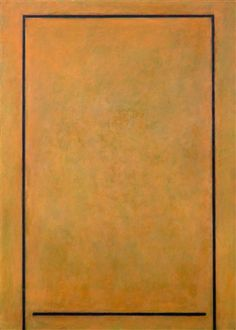Paul Osipow: A brown square, 1983, oil on canvas, 152x110 cm