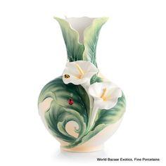 FZ03008 Happy Reunion Calla Lily L Vase Franz Porcelain New 2012 Spectacular | eBay