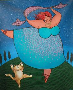 the dancing fat lady and her cat