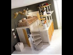 Walk-in closet under the bed... Very nice, now my house can be smaller!