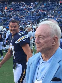 Behold, from before Thursday night's Dallas Cowboys-San Diego Chargers preseason game: