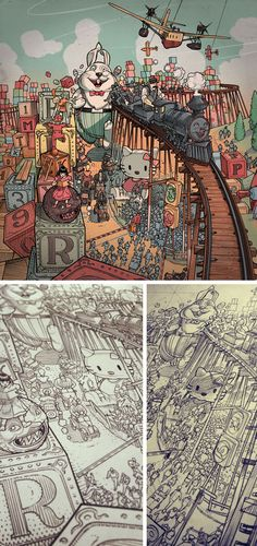 Incredibly Detailed Sketches from the portfolio of Ricardo Martinez