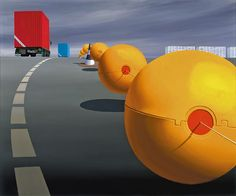 Australian Fine Art Editions - Artist Jeffrey Smart - The Guiding Spheres II (Homage to Cezanne)