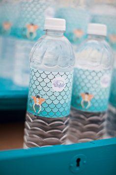 DIY Printable Water Bottle Labels - Mermaid Party. $7.00, via Etsy.