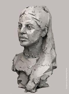 Bust Adi by Mooniq Priem. Quick sketch in clay. Human Sculpture, Sculpture Head, Traditional Sculptures, Sand Art, Art Techniques, Ceramic Art, Sculpting, Face, Quick Sketch