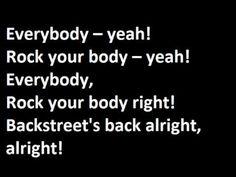 Backstreet Boys - Everybody (Backstreet's Back) - Lyrics