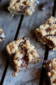 Healthy Dark Chocolate Chunk Oatmeal Cookie Bars (Idiot Proof) - Half Baked Harvest