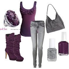 I need this outfit!!! It's soooo PURPLE!!! <3
