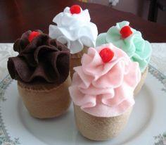 felt cupcakes - Buscar con Google