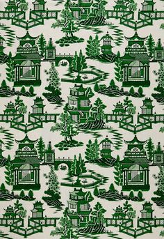 schumacher green / white asian pattern