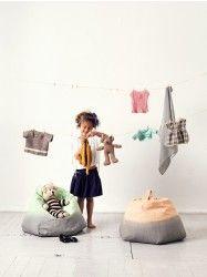 By Mimi's Circus: Beanbag Grey/Peach (H:65 cm Ø:50 cm - 2-7 years)