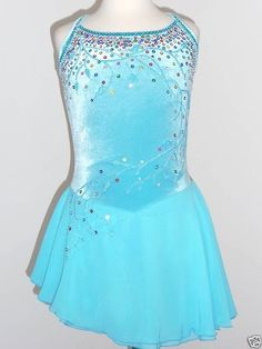 CUSTOM MADE TO FIT BEAUTIFUL & LOVELY ICE SKATING  DRESS  #tinaskatewear